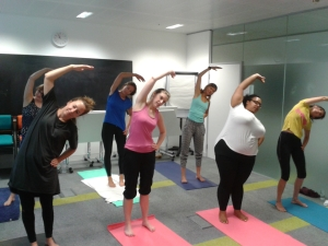 Pilates for staff at Teach First