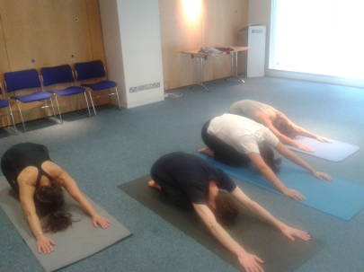 Pilates with staff at The British Council