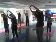 Girlguiding - Pilates class for staff