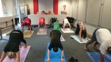 Yoga session for staff at TfL