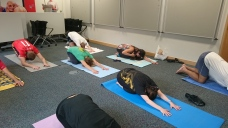 Restorative Yoga session at TfL